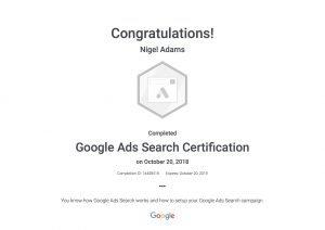 Google Search Ads Certificate