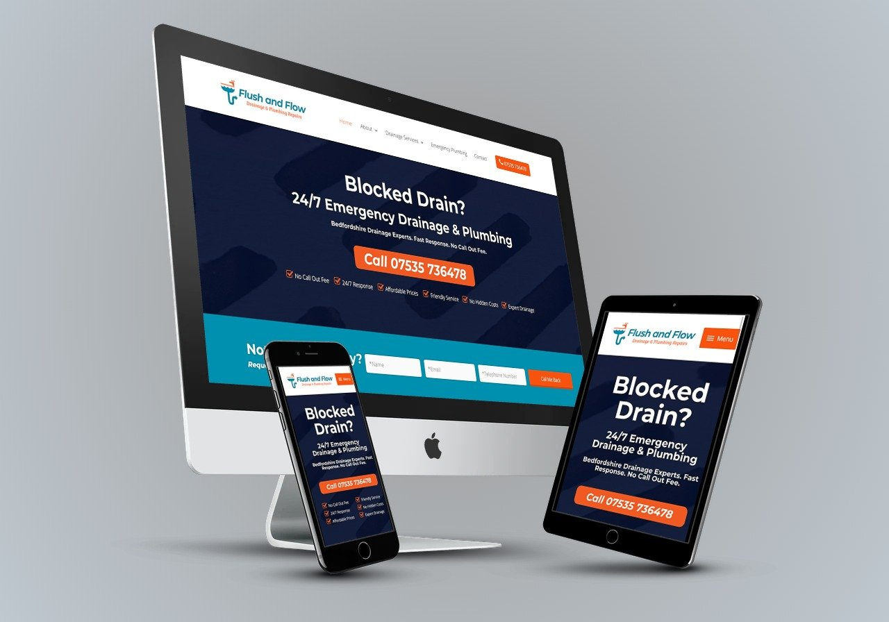 Flush and Flow Drainage - Web Design Bedford & SEO Bedford Project