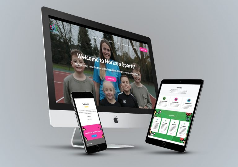 Horizon Sports Ltd - Web Design Portfolio Hertfordshire